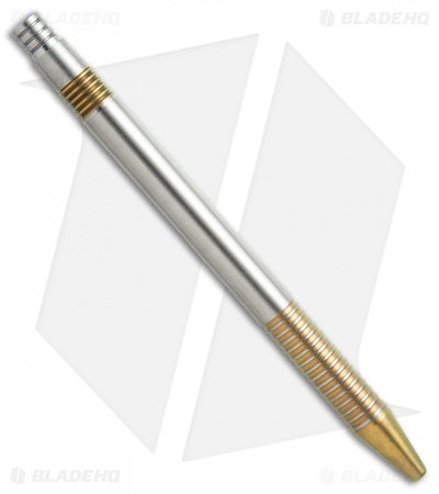 Matthew Martin Tactical 375 Series Unique #2 Gold Ano Titanium Click Pen