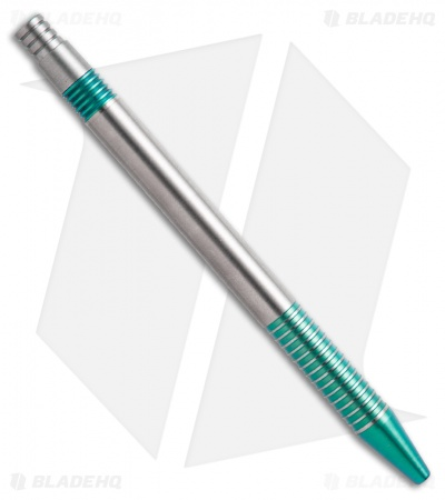 Matthew Martin Tactical 375 Series Unique #4 Teal Ano Titanium Click Pen