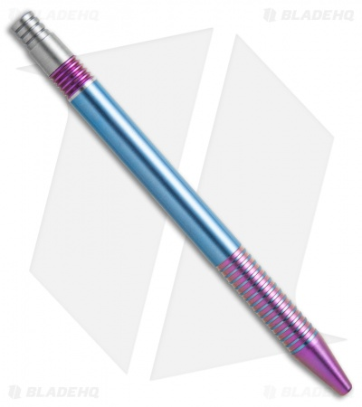 Matthew Martin Tactical 375 Series Unique #9 Purple/Teal Ano Titanium Click Pen