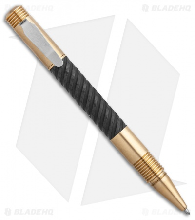 Matthew Martin Tactical 500 Series Pen (Machined CF/Brass) 500BCF-S