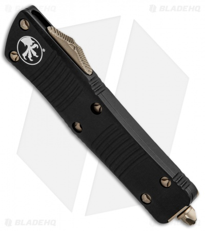 "Microtech Signature Series Troodon OTF Knife Bronze Hardware (3"" Damascus)"