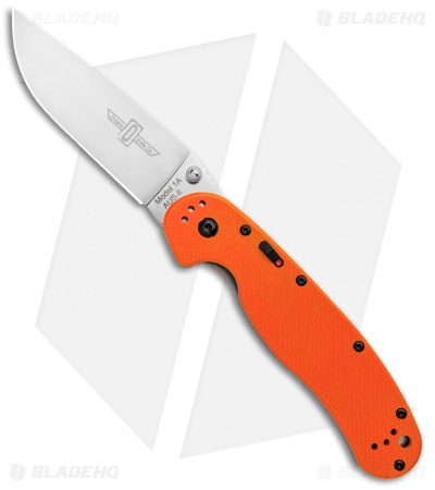 "Ontario RAT Model 1A Spring Assisted Knife Orange G-10 (3.625"" Satin) 8870OR"