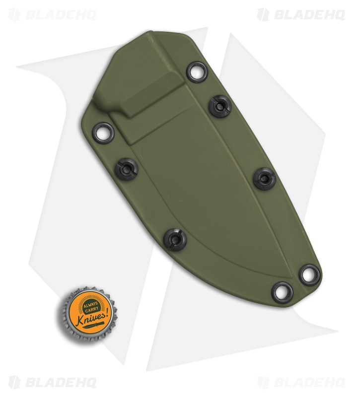 Ontario Rat 5 Sheath: Ontario OKC Rat 3 OD Green Kydex Belt Sheath W/ TekLok