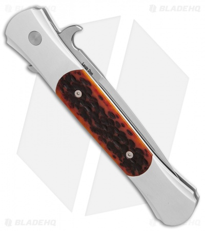 "Protech Large Don Automatic Knife Amber Jigged Bone (4.5"" Satin)"