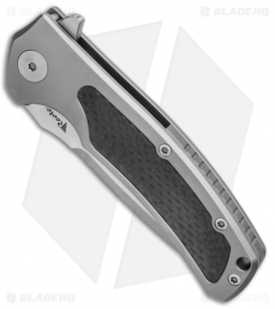 "Reate Knives Mini Horizon-D Frame Lock Knife Carbon Fiber/Gray Ti (3.4"" Satin)"