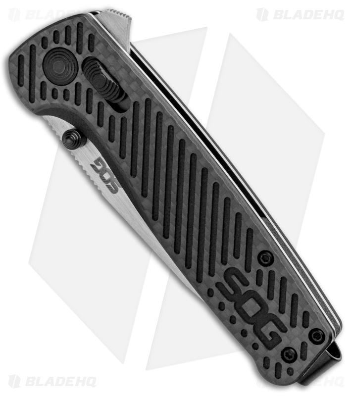 SOG Terminus XR Lock Knife Black G-10/Carbon Fiber (3