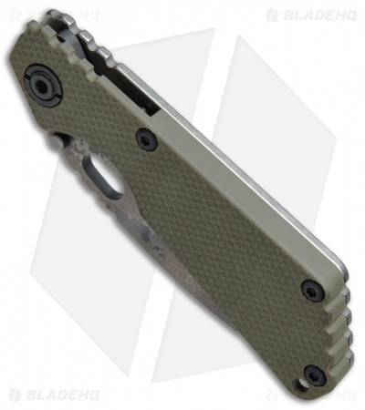 "Strider SNG Frame Lock Knife OD Green G-10 (3.5"" Double Digicam)"