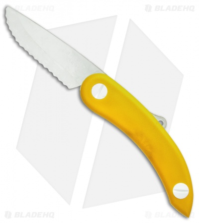 "Svord Zero Metal Peasant Knife Friction Folder Yellow (3.125"" Polymer)"