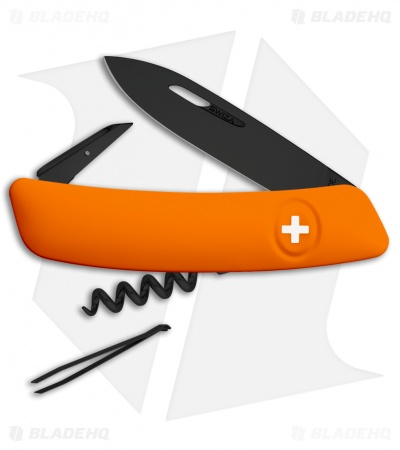 "Swiza D01 Swiss Pocket Knife Orange (3"" Black)"