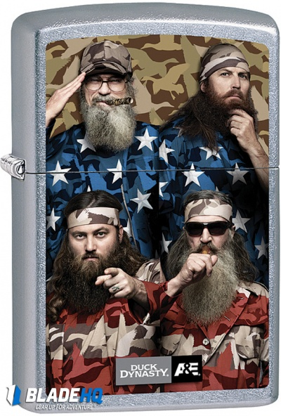 Zippo Lighter Duck Dynasty Street Chrome Four Beards 28885