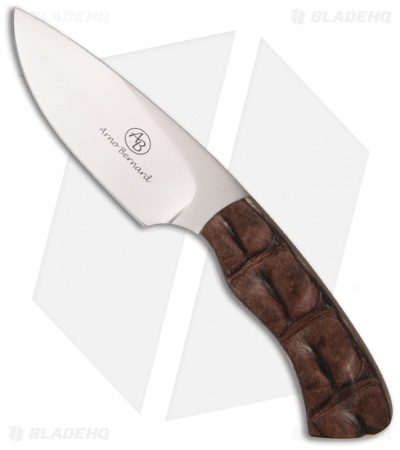 "Arno Bernard Knives Gecko Fixed Blade Knife Croc Hide (2.75"" Satin)"