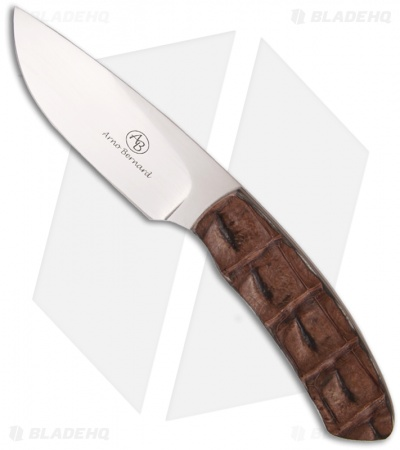 "Arno Bernard Knives Impala Fixed Blade Knife w/ Croc Skin (3.88"" Satin)"