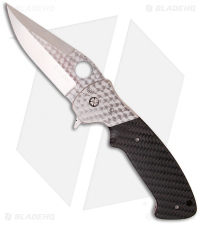 "Crawford Custom Kasper Flipper Knife Carbon Fiber (3.875"" Satin)"