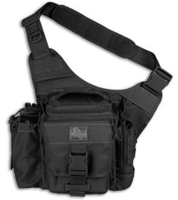 Maxpedition Black Jumbo E.D.C. Versipack Shoulder Sling Pack Bag 9845B