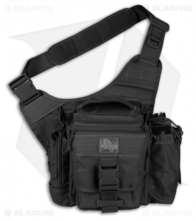 Maxpedition Black Jumbo E.D.C. S-Type Versipack Shoulder Sling Pack Bag 9851B