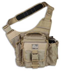Maxpedition Khaki Jumbo E.D.C. S-Type Versipack Shoulder Sling Pack Bag 9851K
