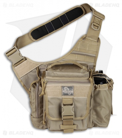 Maxpedition Khaki Jumbo E.D.C. S-Type Versipack Shoulder Sling Pack Bag...