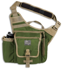 Maxpedition Jumbo K.I.S.S. Versipack Green/Khaki Shoulder Sling Pack Bag 9849GK
