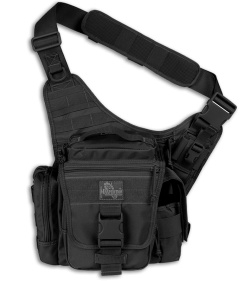Maxpedition Black Jumbo L.E.O. Versipack Shoulder Sling Pack Bag 9846B