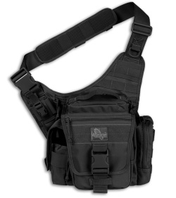 Maxpedition Black Jumbo L.E.O. S-Type Versipack Shoulder Sling Pack Bag 9852B