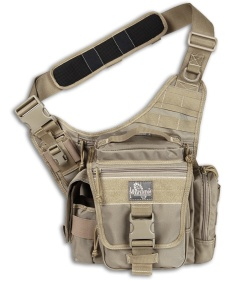Maxpedition Khaki Jumbo L.E.O. S-Type Versipack Shoulder Sling Pack Bag 9852K