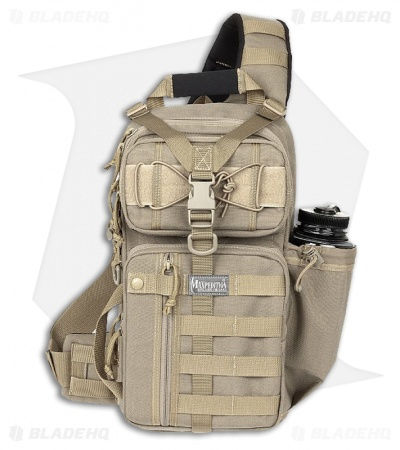 Maxpedition Sitka S-Type Gearslinger Khaki Utility Pack Hydration Bag 0467K