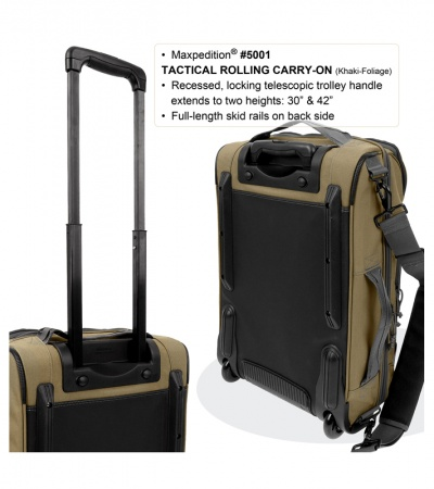 Maxpedition Tactical Rolling Carry-On Luggage Bag 5001B