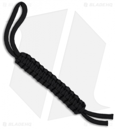 "Knot Boys 4"" Paracord Lanyard Key Chain (Black)"