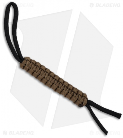 "Knot Boys 4"" Paracord Lanyard Keychain Fob (Coyote Brown)"
