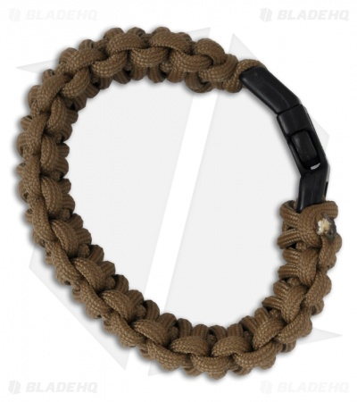 "Knot Boys 1"" Double Paracord Survival Bracelet Fat Boy (Coyote Brown)"