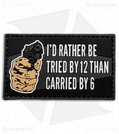 "5ive Star ""Tried By 12"" Hook Velcro Back Morale Patch"