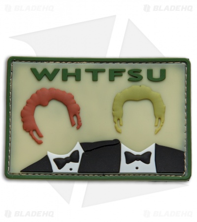 "V.L.M.S. Step Brothers WHTFSU 2.00"" x 3.00"" Hook Velcro Back Morale Patch"