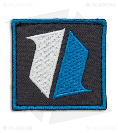 Blade HQ Shield Logo Embroidered Nylon Hook Velcro Back Patch (Blue)