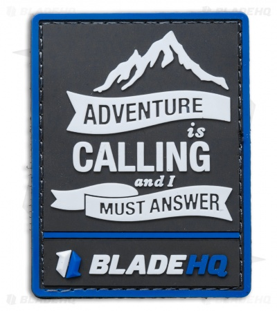 Blade HQ 'Adventure is Calling' PVC Hook Velcro Back Patch (Blue/Black)