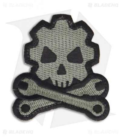 MSM Death Mechanic Patch Hook Velcro Back (ACU-Dark)