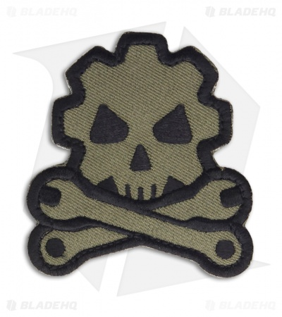 MSM Death Mechanic Patch Hook Velcro Back (Forest)