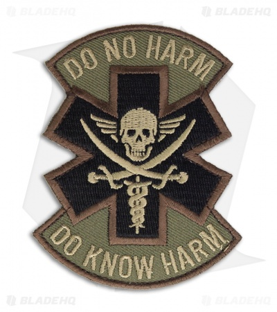MSM Do No Harm Pirate Patch Hook Velcro Back (Forest)