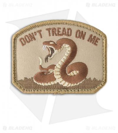 MSM Don't Tread On Me Patch Hook Velcro Back (Desert)