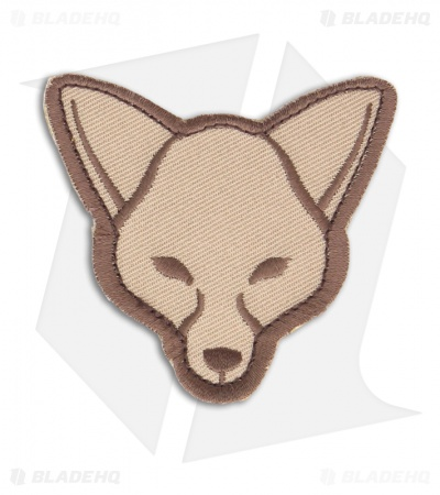 MSM Fox Head Patch Hook Velcro Back (Desert)