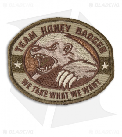 MSM Honey Badger Patch Hook Velcro Back (Multi-Cam)