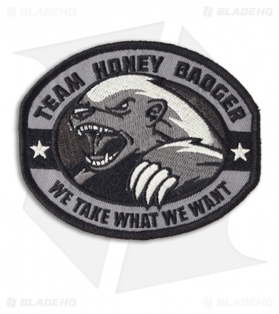 MSM Honey Badger Patch Hook Velcro Back (SWAT)