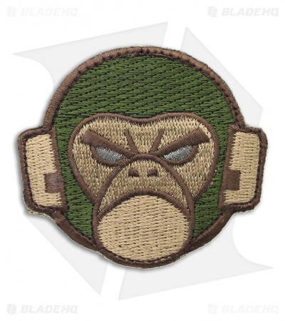 MSM Mil Spec Monkey Logo Patch Hook Velcro Back (Forest)