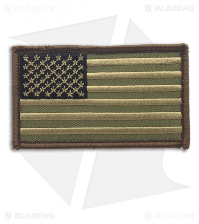 MSM US Flag Patch Hook Velcro Back (Forest)