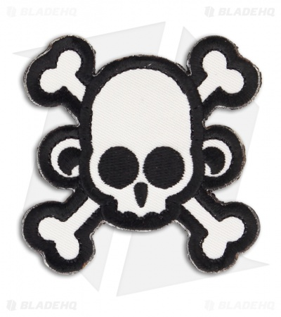 MSM Skull Monkey Cross Patch Hook Velcro Back (SWAT)
