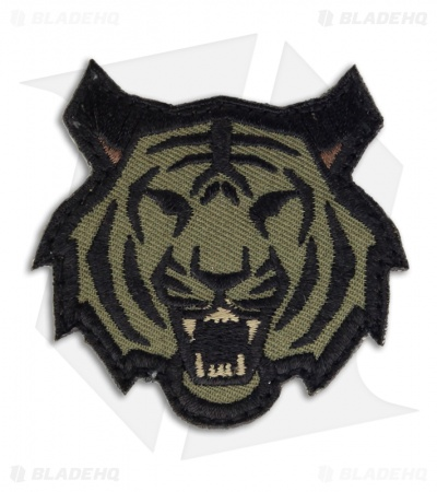 MSM Tiger Head Patch Hook Velcro Back (Forest)