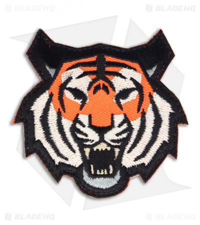 MSM Tiger Head Patch Hook Velcro Back (Full-Color)
