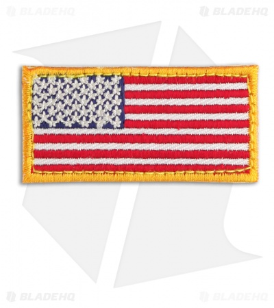 MSM US Flag Mini Patch Hook Velcro Back (Full Color)