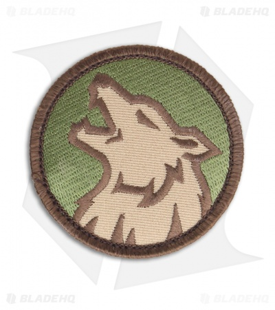 MSM Wolf Head Patch Hook Velcro Back (Multi-Cam)