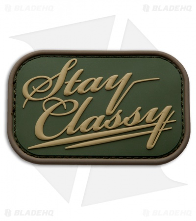 MSM Stay Classy PVC Hook Velcro Back Patch (Multicam)