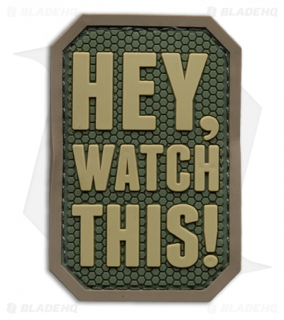 """Hey, Watch This"" PVC Patch (Multicam)"